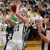 Record-Eagle/Keith King<br /> Traverse City West's Donny Cizek shoots the ball against Cadillac Tuesday, January 31, 2012 at Traverse City West High School.