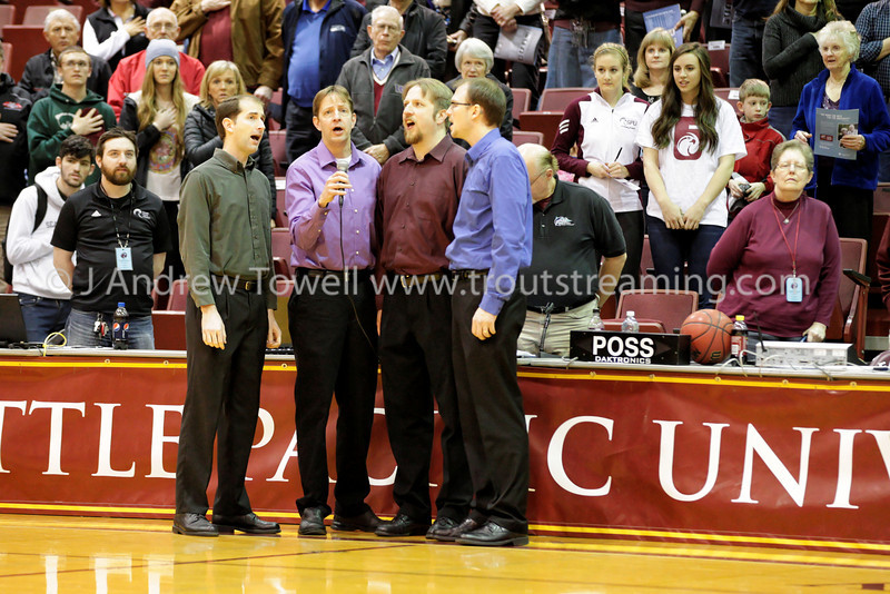 140201 Mens Basketball Seattle Pacific University Falcons versus Western Oregon University Wolves Snapshots