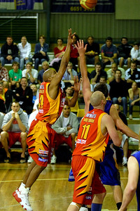 D-Mac (Darryl McDonald) with the teardrop - NBL Blitz, Coffs Harbour, 8-9 September 2006