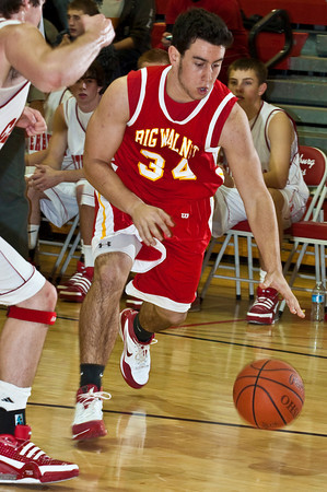 Big Walnut High School's #34 Jake Walaszek during a pre-season scrimmage at Centerburg High School, Friday night November 20, 2009. (Photo by James D. DeCamp 614-462-8027)