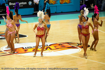 Half Time - Gold Coast Blaze v Perth Wildcats NBL Baskeball, New Year's Eve 2010; Gold Coast Convention & Exhibition Centre.