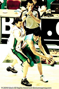 "Alternate Processing - Jason Cadee v Peter Crawford - Gold Coast Blaze v Townsville Crocodiles NBL Basketball, Friday 17 December 2010 - National Basketball League, Gold Coast Convention & Exhibition Centre, Queensland, Australia. Photos by Des Thureson. - Adobe Lightroom Preset: ""PH Edgy Church"" processing"