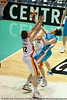 My favourite pic from the game - Chris Goulding with the effort against Wade Helliwell - Gold Coast Blaze v Melbourne Tigers NBL Basketball, Sunday 21 November 2010, GCCEC.