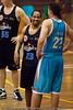 """We can be friends!"" - Gold Coast Blaze v New Zealand Breakers NBL basketball pre-season game; 4 October 2010, Carrara Stadium, Gold Coast, Queensland, Australia"