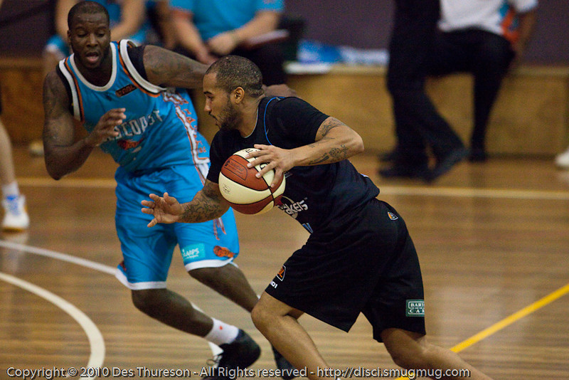 Kevin Braswell - Gold Coast Blaze v New Zealand Breakers NBL basketball pre-season game; 4 October 2010, Carrara Stadium, Gold Coast, Queensland, Australia