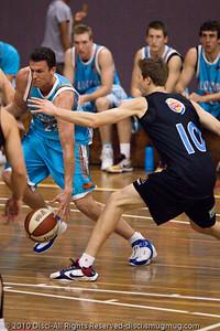 Stephen Hoare - Gold Coast Blaze v New Zealand Breakers NBL basketball pre-season game; 4 October 2010, Carrara Stadium, Gold Coast, Queensland, Australia