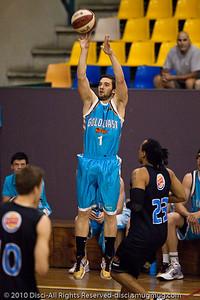 Adam Gibson - Gold Coast Blaze v New Zealand Breakers NBL basketball pre-season game; 4 October 2010, Carrara Stadium, Gold Coast, Queensland, Australia