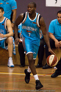 James Maye - Gold Coast Blaze v New Zealand Breakers NBL basketball pre-season game; 4 October 2010, Carrara Stadium, Gold Coast, Queensland, Australia