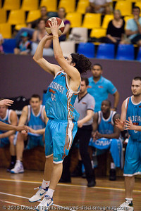 "Chris Goulding (""Bubbles"") - Gold Coast Blaze v New Zealand Breakers NBL basketball pre-season game; 4 October 2010, Carrara Stadium, Gold Coast, Queensland, Australia"