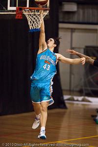 "Chris Goulding (""Bubbles"") finishes strongly on the break - Gold Coast Blaze v New Zealand Breakers NBL basketball pre-season game; 4 October 2010, Carrara Stadium, Gold Coast, Queensland, Australia"