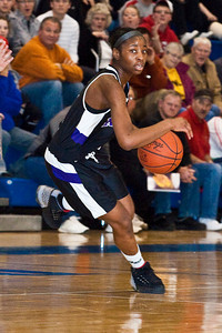 Pickerington North High School's #4 Jaila Kee-Bryant brings the ball down court against New Albany High School in the third period of play at Olentangy Liberty High School in the Central District Division I finals held Saturday afternoon March 6, 2010. (Photo by James D. DeCamp | http://www.OhioPhotojournalist.com | 614-462-8027)