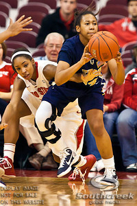Ohio State University's Senior Guard Alison Jackson (#12) and East Tennessee State's Freshman Guard Shawn Randall (#14) in the first period of play at the Value City Arena at The Jerome Schottenstein Center in Columbus, Ohio Monday evening November 22, 2010. The Buckeyes lead the Lady Bucs 36-20 at the end of the first half. (© James D. DeCamp / Southcreek Global Media) | All Rights Reserved | http://www.southcreekglobal.com | For all sales contact: sales@southcreekglobal.com | 1-800-934-5030