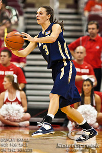 East Tennessee State's Junior Forward Natalie Pickwell (#3) in the second period of play at the Value City Arena at The Jerome Schottenstein Center in Columbus, Ohio Monday evening November 22, 2010. The Buckeyes defeated the Lady Bucs 80-47 at the end of the first half. (© James D. DeCamp / Southcreek Global Media) | All Rights Reserved | http://www.southcreekglobal.com | For all sales contact: sales@southcreekglobal.com | 1-800-934-5030