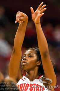 Ohio State University's Sophomore Guard Tayler Hill (#4) from the foul line in the first period of play at the Value City Arena at The Jerome Schottenstein Center in Columbus, Ohio Sunday afternoon November 28, 2010. The Buckeyes defeated the Lady Seahawks 88-69.   (© James D. DeCamp / Southcreek Global Media) | All Rights Reserved |http://www.southcreekglobal.com | For all sales contact: sales@southcreekglobal.com | 1-800-934-5030