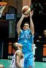 """Stephen Hoare with the 'veteran elevation' - Gold Coast Blaze v Cairns Taipans NBL Basketball, Wednesday 19 January 2011; Gold Coast Convention & Exhibition Centre, Broadbeach, Queensland, Australia. Photos by Des Thureson:  <a href=""""http://disci.smugmug.com"""">http://disci.smugmug.com</a>"""