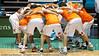 """The Taipans' Pre Game huddle - Gold Coast Blaze v Cairns Taipans NBL Basketball, Wednesday 19 January 2011; Gold Coast Convention & Exhibition Centre, Broadbeach, Queensland, Australia. Photos by Des Thureson:  <a href=""""http://disci.smugmug.com"""">http://disci.smugmug.com</a>"""