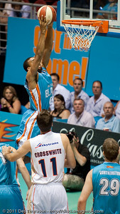 Darryl Hudson dunks - Gold Coast Blaze v Cairns Taipans NBL Basketball, Wednesday 19 January 2011; Gold Coast Convention & Exhibition Centre, Broadbeach, Queensland, Australia. Photos by Des Thureson:  http://disci.smugmug.com