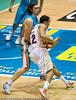 """Chris Goulding defends Daniel Dillon - Gold Coast Blaze v Cairns Taipans NBL Basketball, Wednesday 19 January 2011; Gold Coast Convention & Exhibition Centre, Broadbeach, Queensland, Australia. Photos by Des Thureson:  <a href=""""http://disci.smugmug.com"""">http://disci.smugmug.com</a>"""