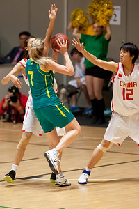 Carly Wilson - Opals v China International Women's Basketball, Logan Metro Sports Centre, Crestmead, Queensland, Australia; 24 July 2011. Photos by Des Thureson:  http://disci.smugmug.com.