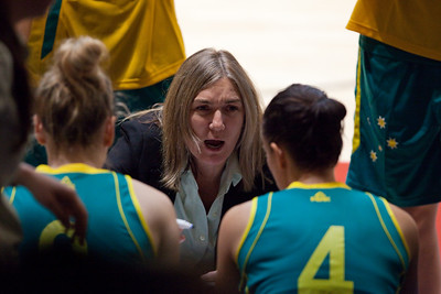 Opals Head Coach Carrie Graff in the Time Out - Opals v China International Women's Basketball, Logan Metro Sports Centre, Crestmead, Queensland, Australia; 24 July 2011. Photos by Des Thureson:  http://disci.smugmug.com.
