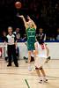 """Carly Wilson, Lijie Miao - Opals v China International Women's Basketball, Logan Metro Sports Centre, Crestmead, Queensland, Australia; 24 July 2011. Photos by Des Thureson:  <a href=""""http://disci.smugmug.com"""">http://disci.smugmug.com</a>."""