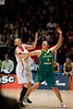 "Suzy Batkovic, Nan Chen - Opals v China International Women's Basketball, Logan Metro Sports Centre, Crestmead, Queensland, Australia; 24 July 2011. Photos by Des Thureson:  <a href=""http://disci.smugmug.com"">http://disci.smugmug.com</a>."