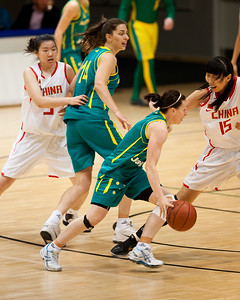 Rachael Flanagan - Opals v China International Women's Basketball, Logan Metro Sports Centre, Crestmead, Queensland, Australia; 24 July 2011. Photos by Des Thureson:  http://disci.smugmug.com.