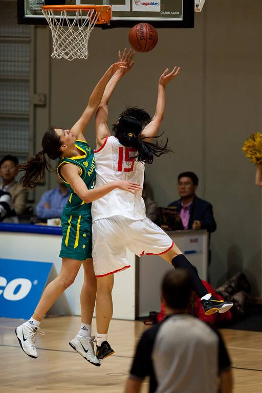 "Marianna Tolo - Opals v China International Women's Basketball, Logan Metro Sports Centre, Crestmead, Queensland, Australia; 24 July 2011. Photos by Des Thureson:  <a href=""http://disci.smugmug.com"">http://disci.smugmug.com</a>."