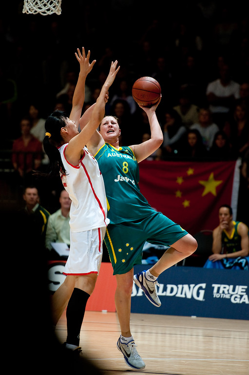 "Suzy Batkovic - Opals v China International Women's Basketball, Logan Metro Sports Centre, Crestmead, Queensland, Australia; 24 July 2011. Photos by Des Thureson:  <a href=""http://disci.smugmug.com"">http://disci.smugmug.com</a>."