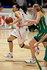 """Lijie Miao, Carly Wilson - Opals v China International Women's Basketball, Logan Metro Sports Centre, Crestmead, Queensland, Australia; 24 July 2011. Photos by Des Thureson:  <a href=""""http://disci.smugmug.com"""">http://disci.smugmug.com</a>."""