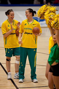 Kristen Veal, Rachael Flanagan - Opals v China International Women's Basketball, Logan Metro Sports Centre, Crestmead, Queensland, Australia; 24 July 2011. Photos by Des Thureson:  http://disci.smugmug.com.