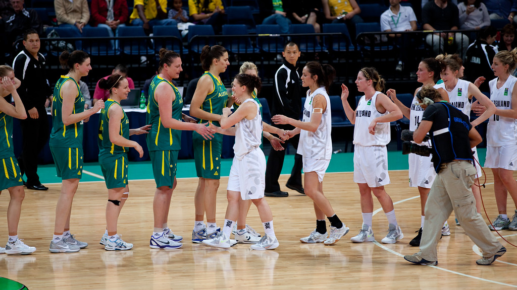 "Opals 77-64 winners, also winning the series and qualifying for the 2012 London Olympics - Australian Opals v New Zealand Tall Ferns FIBA Oceania Championship International Women's Basketball, Brisbane Entertainment Centre, Boondall, Brisbane, Queensland, Australia; 9 September 2011. Photos by Des Thureson:  <a href=""http://disci.smugmug.com"">http://disci.smugmug.com</a>"