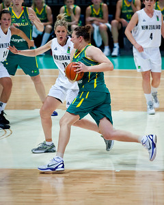 Suzy Batkovic, Lisa Wallbutton - Australian Opals v New Zealand Tall Ferns FIBA Oceania Championship International Women's Basketball, Brisbane Entertainment Centre, Boondall, Brisbane, Queensland, Australia; 9 September 2011. Photos by Des Thureson:  http://disci.smugmug.com