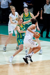 Hanna Zavecz - Australian Opals v New Zealand Tall Ferns FIBA Oceania Championship International Women's Basketball, Brisbane Entertainment Centre, Boondall, Brisbane, Queensland, Australia; 9 September 2011. Photos by Des Thureson:  http://disci.smugmug.com