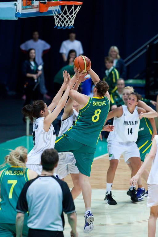 "Suzy Batkovic, Lisa Wallbutton, Natalie Taylor - Australian Opals v New Zealand Tall Ferns FIBA Oceania Championship International Women's Basketball, Brisbane Entertainment Centre, Boondall, Brisbane, Queensland, Australia; 9 September 2011. Photos by Des Thureson:  <a href=""http://disci.smugmug.com"">http://disci.smugmug.com</a>"
