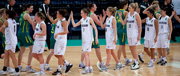 Opals 77-64 winners, also winning the series and qualifying for the 2012 London Olympics - Australian Opals v New Zealand Tall Ferns FIBA Oceania Championship International Women's Basketball, Brisbane Entertainment Centre, Boondall, Brisbane, Queensland, Australia; 9 September 2011. Photos by Des Thureson:  http://disci.smugmug.com