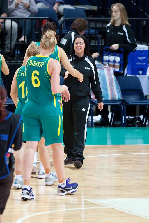 "Angela Marino - Australian Opals v New Zealand Tall Ferns FIBA Oceania Championship International Women's Basketball, Brisbane Entertainment Centre, Boondall, Brisbane, Queensland, Australia; 9 September 2011. Photos by Des Thureson:  <a href=""http://disci.smugmug.com"">http://disci.smugmug.com</a>"