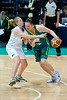 """Suzy Batkovic, Lisa Wallbutton - Australian Opals v New Zealand Tall Ferns FIBA Oceania Championship International Women's Basketball, Brisbane Entertainment Centre, Boondall, Brisbane, Queensland, Australia; 9 September 2011. Photos by Des Thureson:  <a href=""""http://disci.smugmug.com"""">http://disci.smugmug.com</a>"""