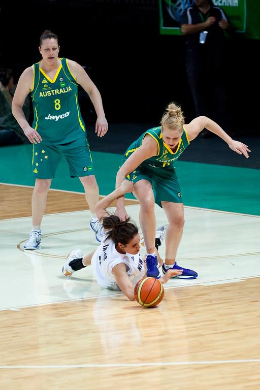 "Australian Opals v New Zealand Tall Ferns FIBA Oceania Championship International Women's Basketball, Brisbane Entertainment Centre, Boondall, Brisbane, Queensland, Australia; 9 September 2011. Photos by Des Thureson:  <a href=""http://disci.smugmug.com"">http://disci.smugmug.com</a>"