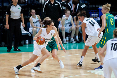 Natalie Taylor (Natalie Purcell) - Australian Opals v New Zealand Tall Ferns FIBA Oceania Championship International Women's Basketball, Brisbane Entertainment Centre, Boondall, Brisbane, Queensland, Australia; 9 September 2011. Photos by Des Thureson:  http://disci.smugmug.com