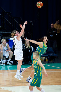 Marianna Tolo, Micaela Cocks - Australian Opals v New Zealand Tall Ferns FIBA Oceania Championship International Women's Basketball, Brisbane Entertainment Centre, Boondall, Brisbane, Queensland, Australia; 9 September 2011. Photos by Des Thureson:  http://disci.smugmug.com