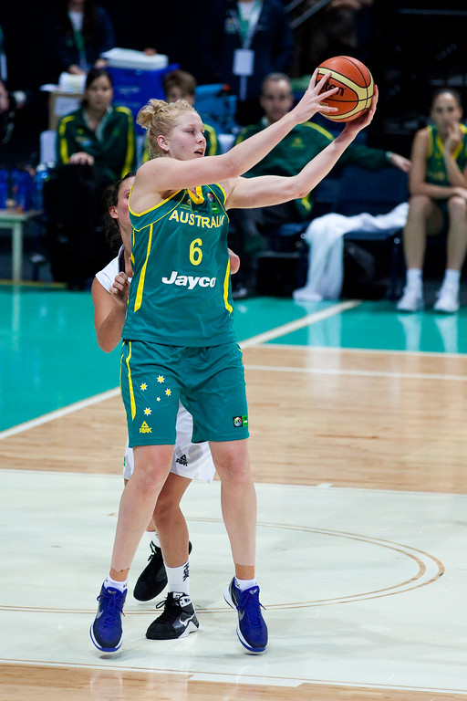 "Abby Bishop - Australian Opals v New Zealand Tall Ferns FIBA Oceania Championship International Women's Basketball, Brisbane Entertainment Centre, Boondall, Brisbane, Queensland, Australia; 9 September 2011. Photos by Des Thureson:  <a href=""http://disci.smugmug.com"">http://disci.smugmug.com</a>"