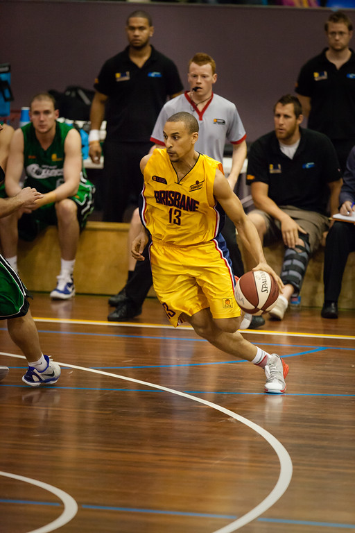 "Nicolas Masunda - QBL Quarter Final Basketball: Gold Coast Rollers v Brisbane Capitals; Carrara, Gold Coast, Queensland, Australia. Photos by Des Thureson:  <a href=""http://disci.smugmug.com"">http://disci.smugmug.com</a>. (uncropped)"