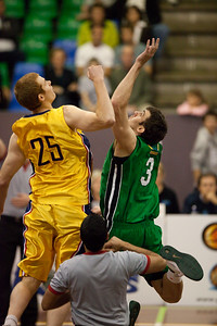 Tom Garlepp, Jaydan Tom - QBL Quarter Final Basketball: Gold Coast Rollers v Brisbane Capitals; Carrara, Gold Coast, Queensland, Australia. Photos by Des Thureson:  http://disci.smugmug.com.