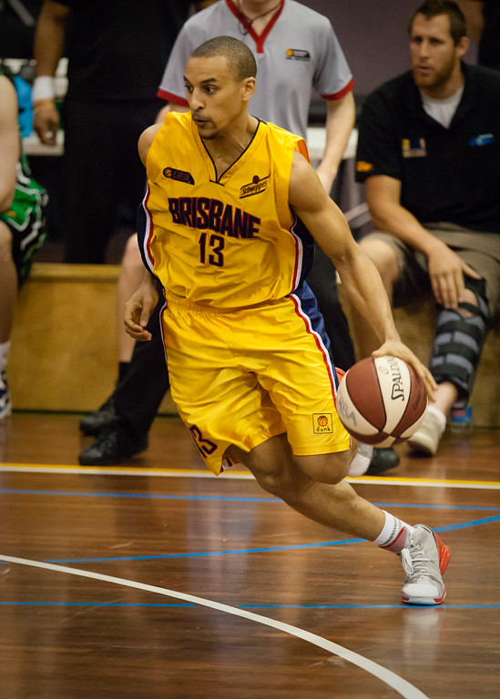 "Nicolas Masunda - QBL Quarter Final Basketball: Gold Coast Rollers v Brisbane Capitals; Carrara, Gold Coast, Queensland, Australia. Photos by Des Thureson:  <a href=""http://disci.smugmug.com"">http://disci.smugmug.com</a>. (7x5 aspect ratio)"