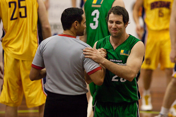 "Adam Darragh, Scott Butler - QBL Quarter Final Basketball: Gold Coast Rollers v Brisbane Capitals; Carrara, Gold Coast, Queensland, Australia. Photos by Des Thureson:  <a href=""http://disci.smugmug.com"">http://disci.smugmug.com</a>."