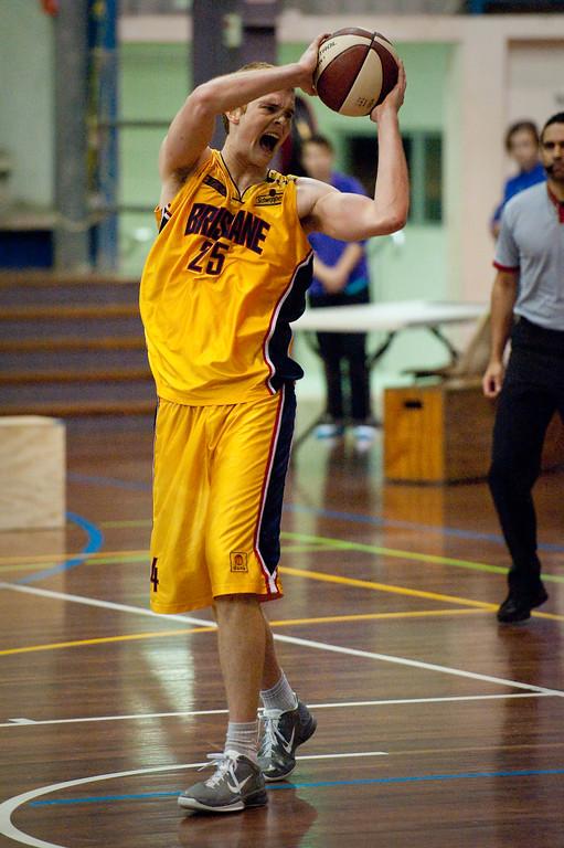 """Tom Garlepp - QBL Quarter Final Basketball: Gold Coast Rollers v Brisbane Capitals; Carrara, Gold Coast, Queensland, Australia. Photos by Des Thureson:  <a href=""""http://disci.smugmug.com"""">http://disci.smugmug.com</a>."""
