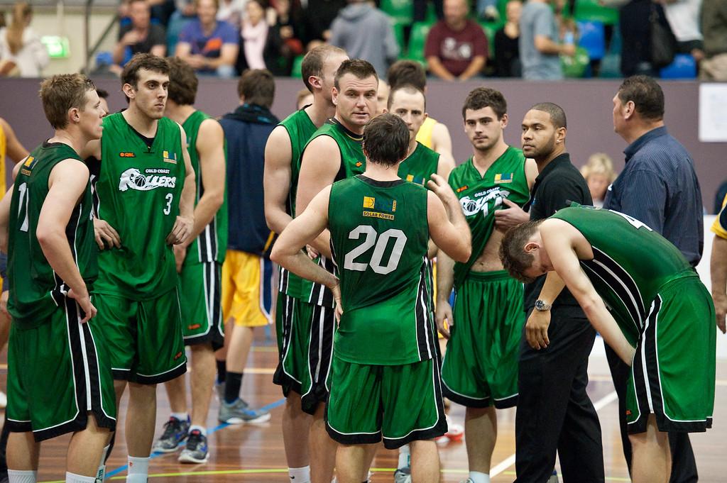 "QBL Quarter Final Basketball: Gold Coast Rollers v Brisbane Capitals; Carrara, Gold Coast, Queensland, Australia. Photos by Des Thureson:  <a href=""http://disci.smugmug.com"">http://disci.smugmug.com</a>."