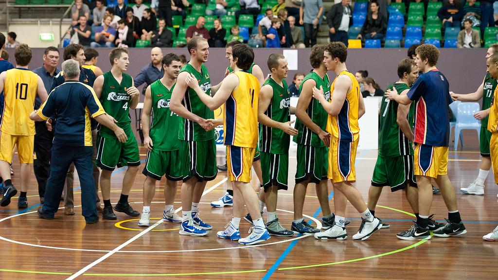 """Peter Alexander - QBL Quarter Final Basketball: Gold Coast Rollers v Brisbane Capitals; Carrara, Gold Coast, Queensland, Australia. Photos by Des Thureson:  <a href=""""http://disci.smugmug.com"""">http://disci.smugmug.com</a>."""