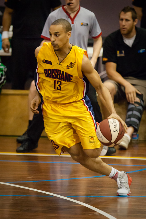 "Nicolas Masunda - QBL Quarter Final Basketball: Gold Coast Rollers v Brisbane Capitals; Carrara, Gold Coast, Queensland, Australia. Photos by Des Thureson:  <a href=""http://disci.smugmug.com"">http://disci.smugmug.com</a>. (Original 3:2 aspect ratio)"
